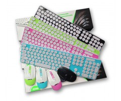 Wireless Shine Keyboard Mouse Combo