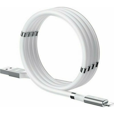 Remax Magnetic / Regular USB to Lightning Cable Λευκό 1m