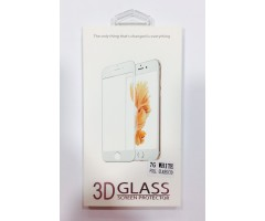 iPhone 7 3D Full Face Curved Αντιχαρακτικό Γυαλί 9H Tempered Glass Black/White